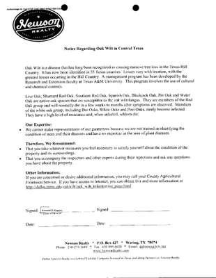 Notice regarding Oak Wilt 20210320_09543986